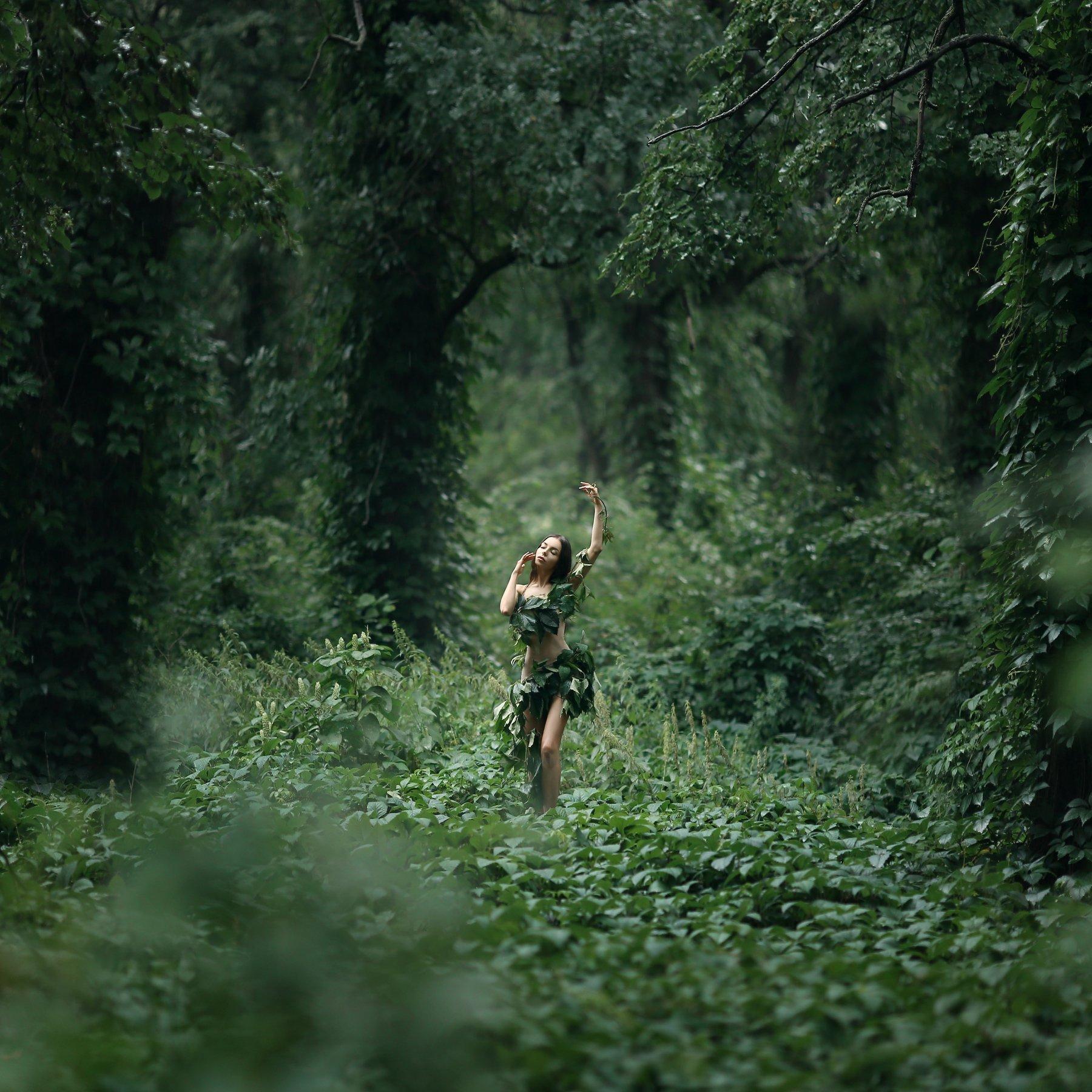 лес, заросли, нимфа, лесная нимфа, джунгли, Ирина Голубятникова