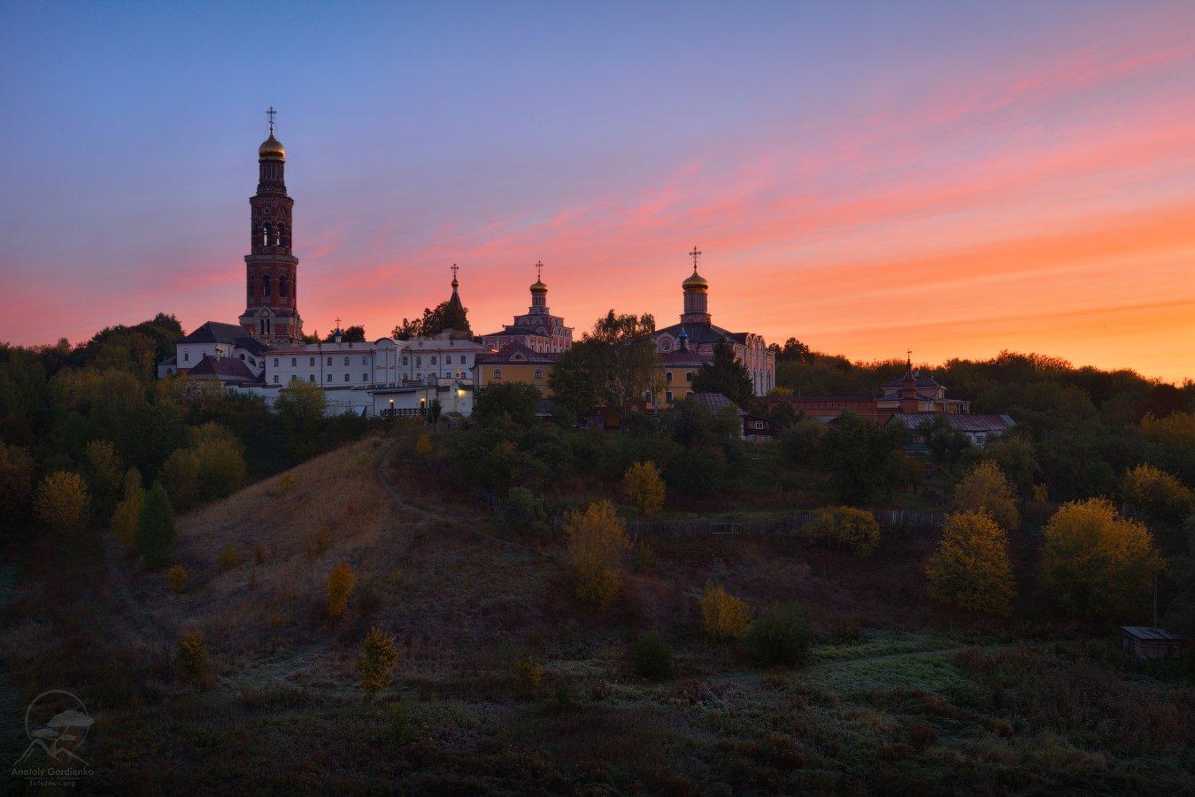 пейзаж, природа, монастырь, пощупово, Анатолий Гордиенко www.fototour.org