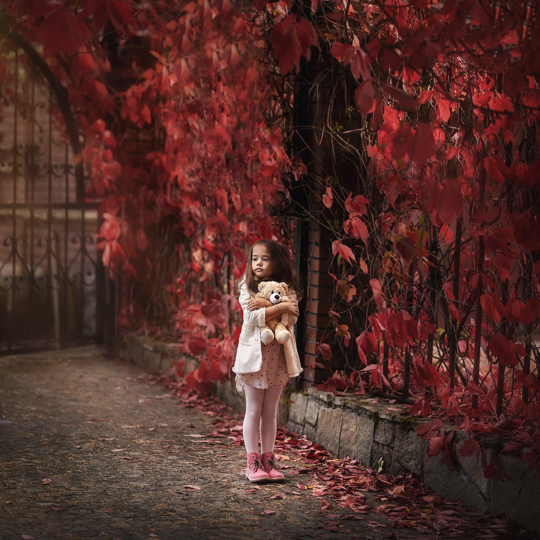 девочка, модель, осень, Бармина Анастасия