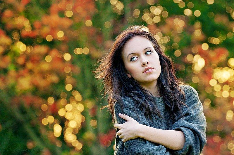фон, осень, девушка, Гладилина Татьяна