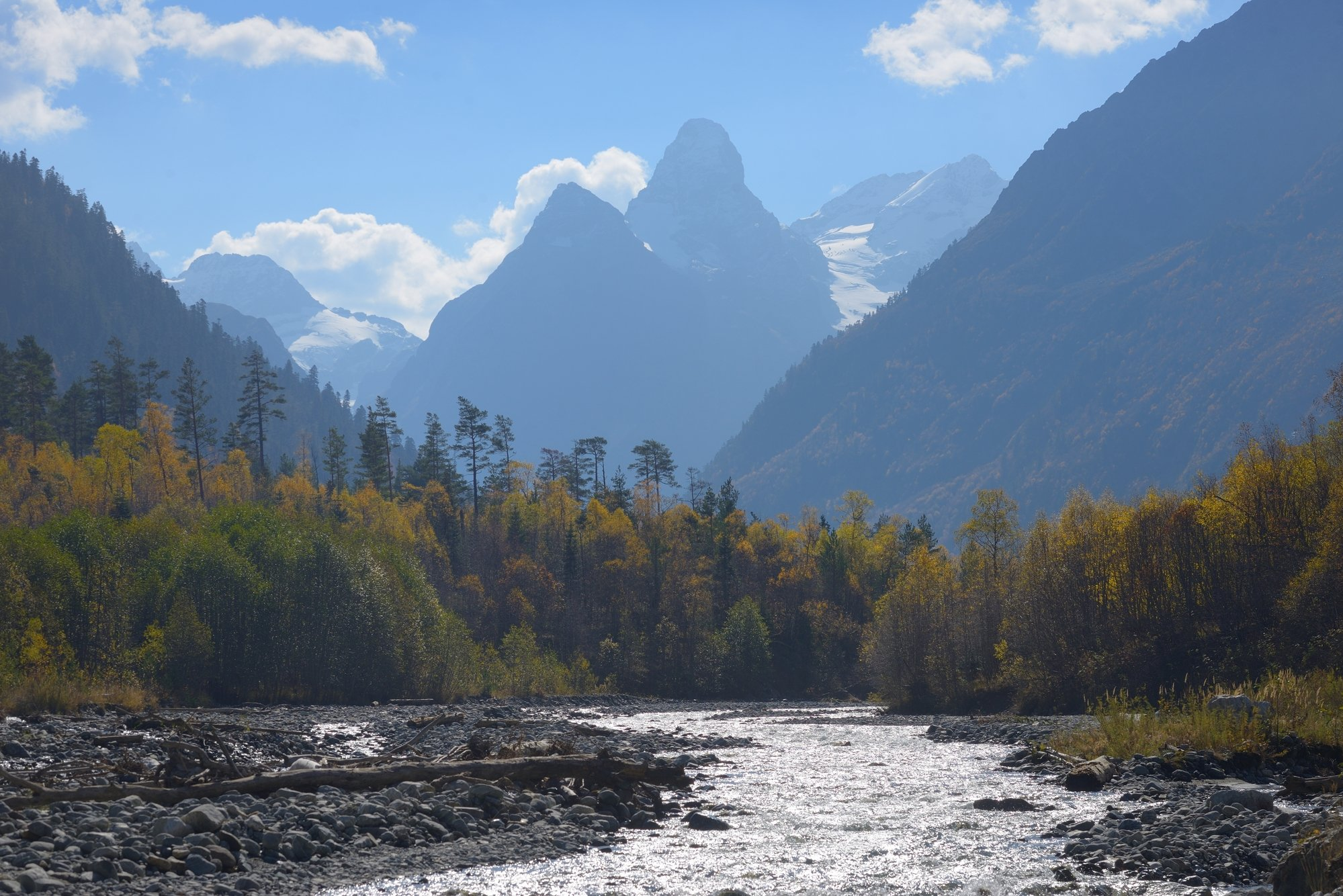 горы, осень, архыз, утро, Александр Жарников