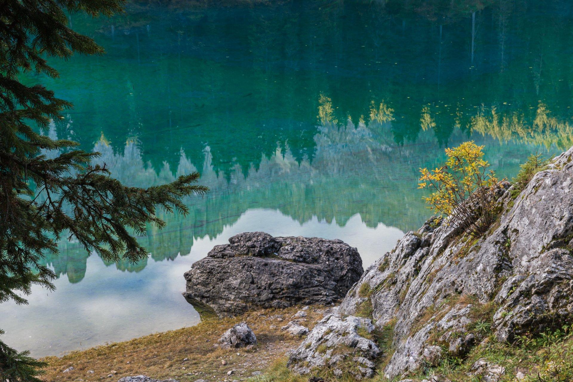 доломиты, осень, отражение, озеро, Marina Malikova