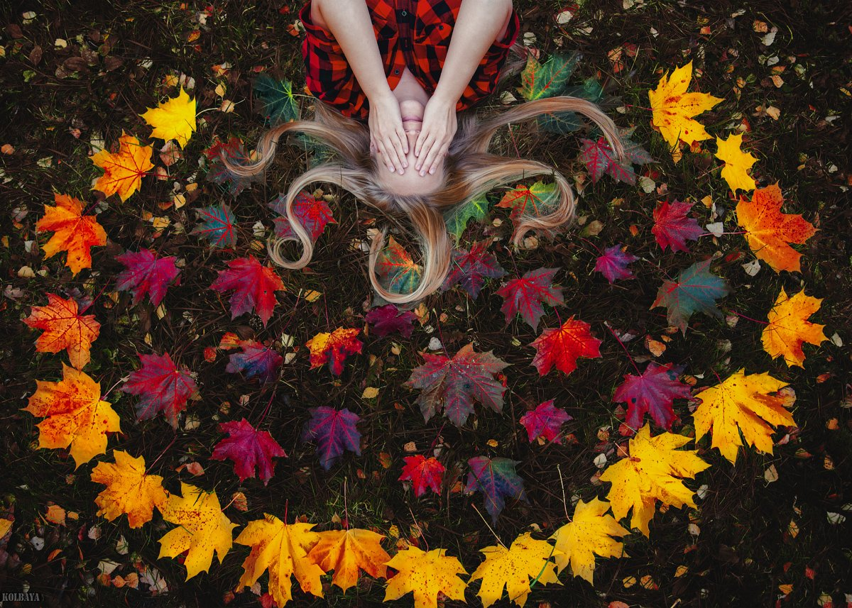 осень, листья, портрет, Колбая Александр