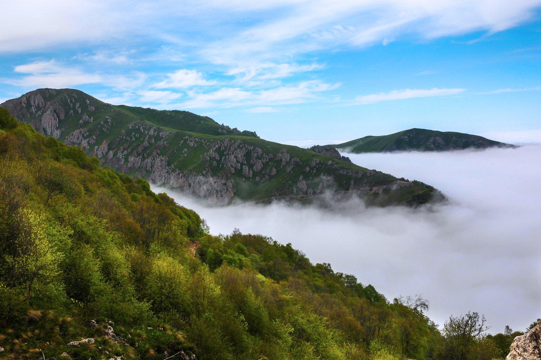 горы,лето,пейзаж,туман,чечня., Марат Магов