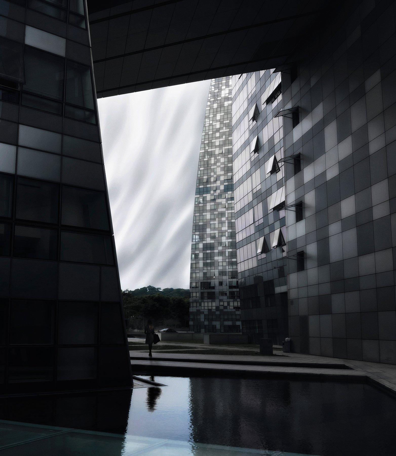 город, стрит, сингапур, азия, путешествия, монохром, Алексей Ермаков