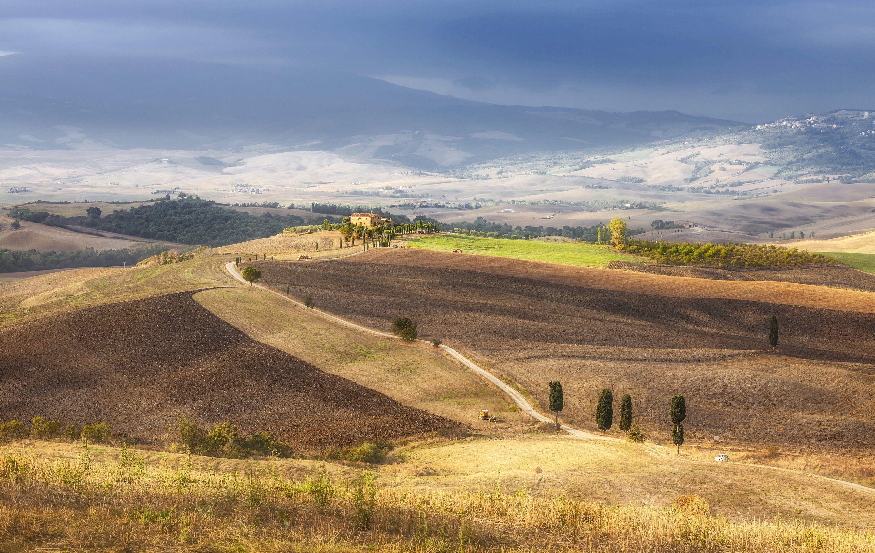 осень, тоскана, пьенца, италия, autumn, tuscany, italy, pienza, Андрей Чабров