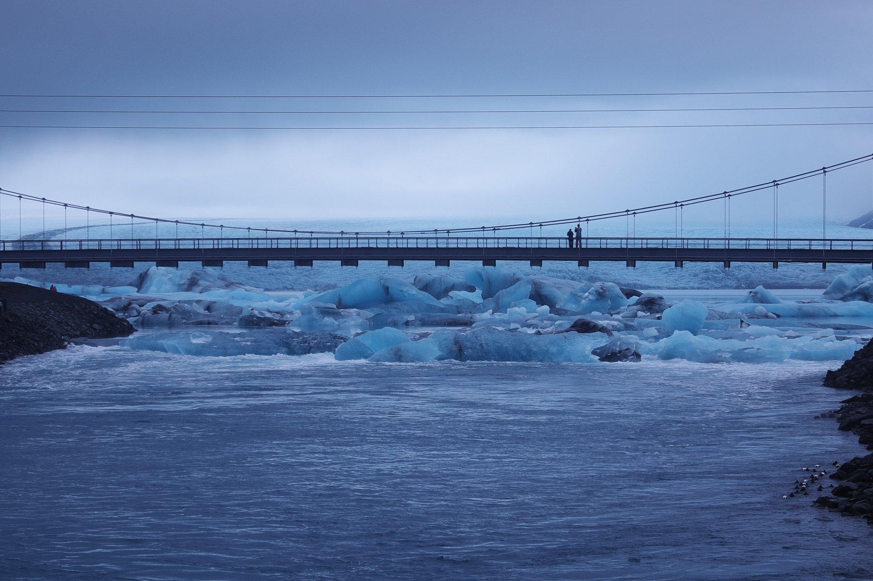 лед, зима, арктика, исландия, мост, север, ice, winter, arctic, iceland, bridge, north, Serg Pechenizhskiy