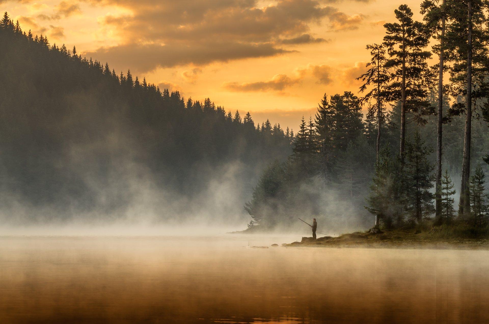 landscape, nature, sunrise, morning, dawn, утро, пейзаж, озеро, coastal, coast, beach, lake, long, exposure, scenery, fog, foggy, mist, fishing, Александър Александров