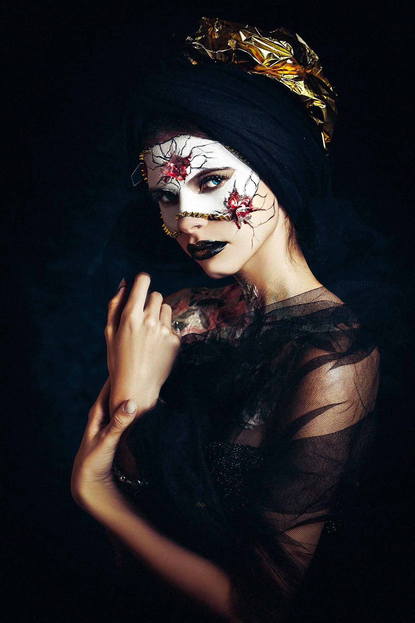 woman, art, portrait, fashion, beauty, faceart, studio, Руслан Болгов (Axe)