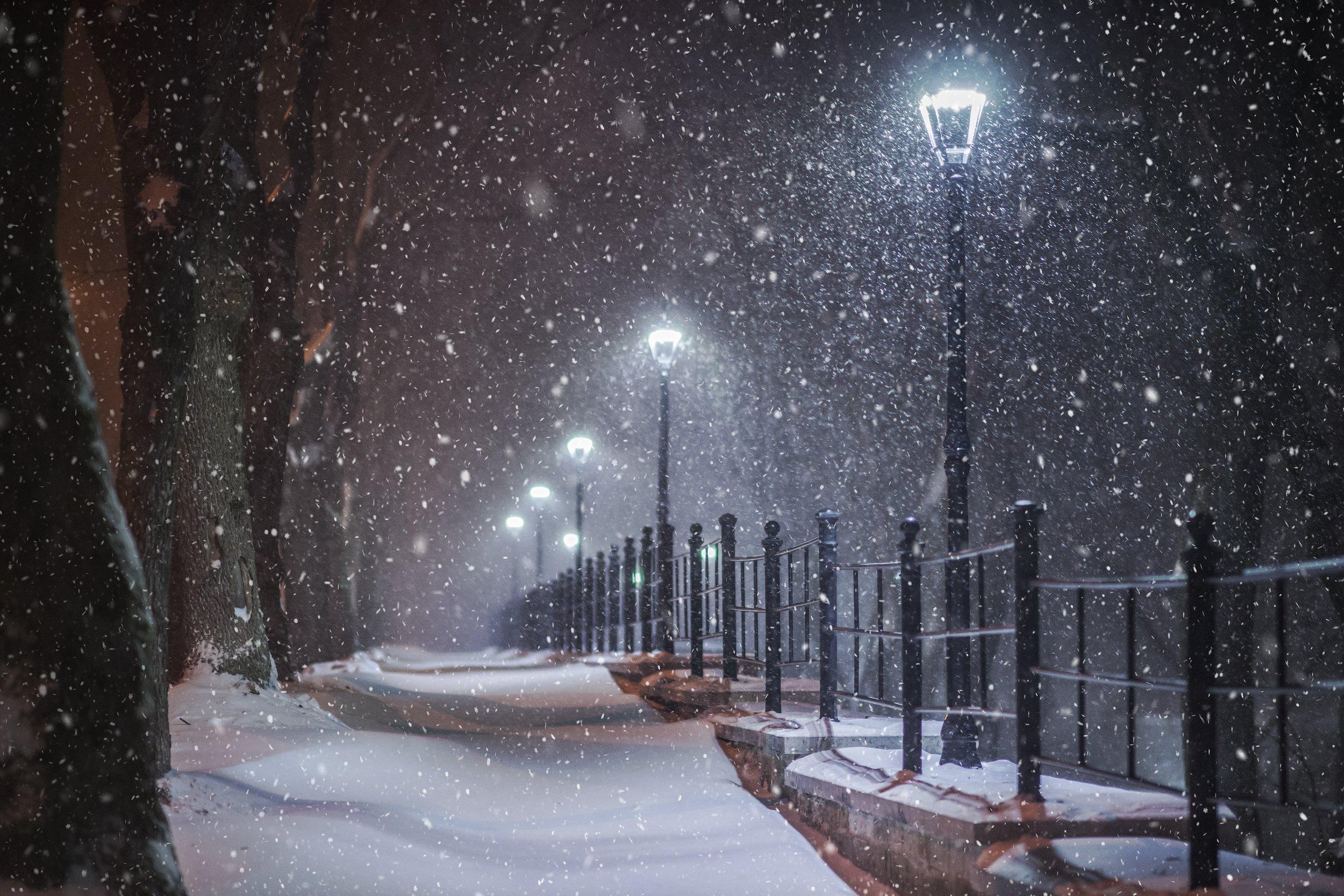 Картинки где снег идет