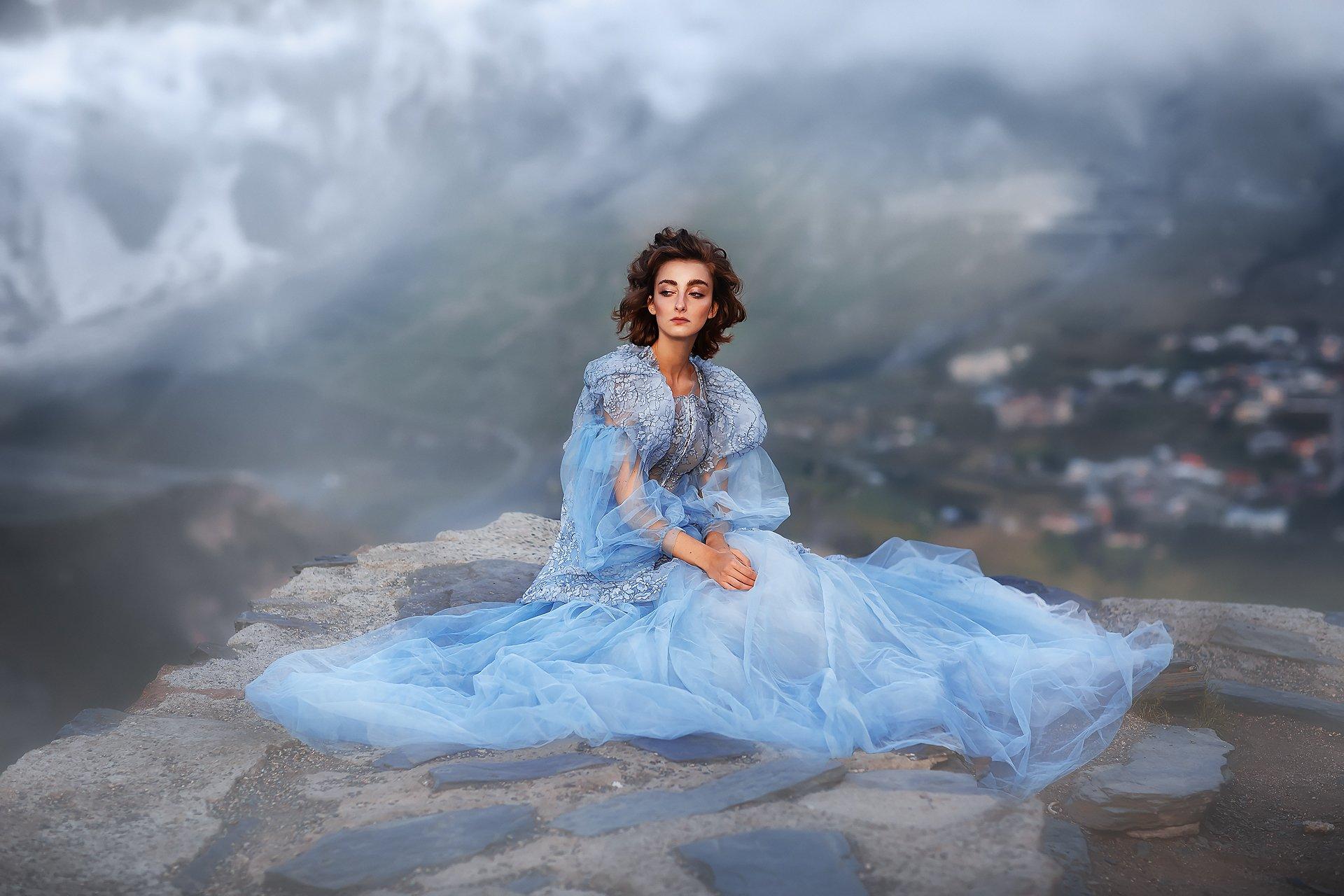 Девушка, модель, горы, Бармина Анастасия