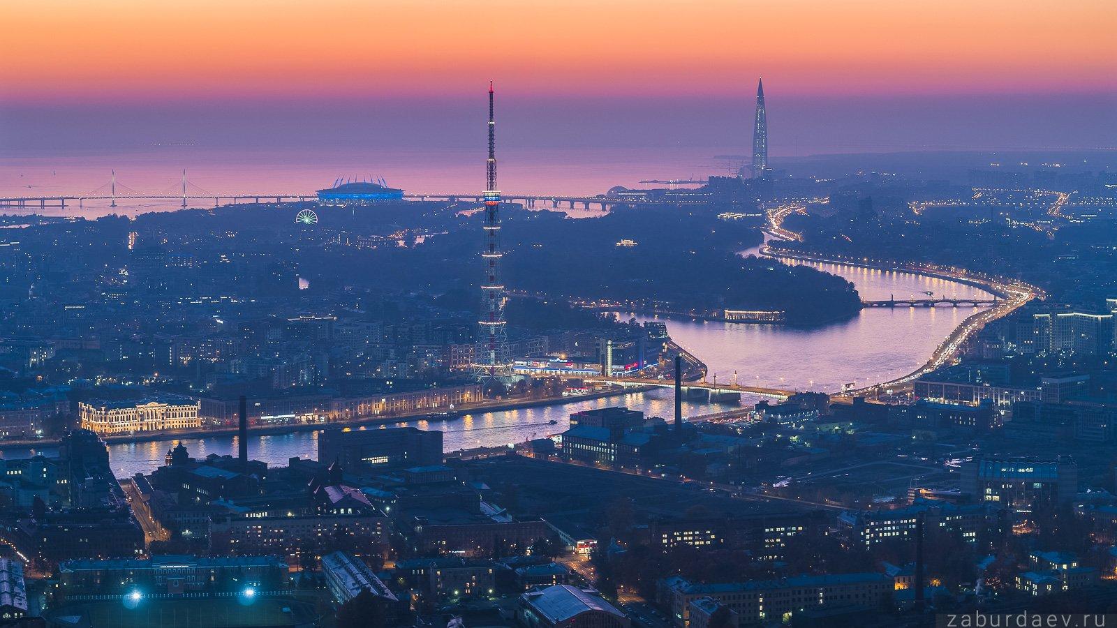 россия, петербург, санкт-петербург, вечер, закат, осень, город, архитектура, дрон, Станислав Забурдаев