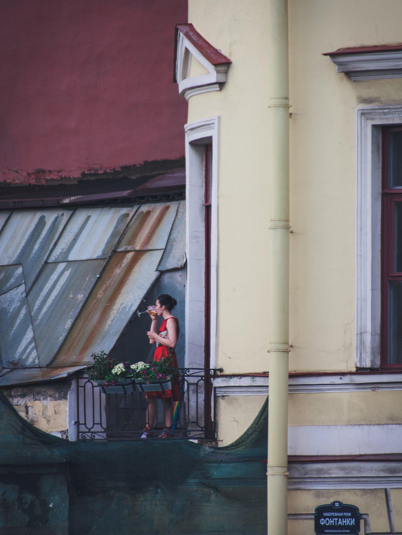 девушка, спб, женщина, человек, вино, город, Vladimir Kedrov