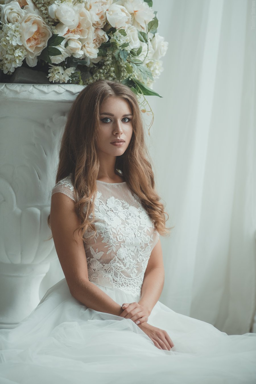 девушка, портрет, милая, cute, girl, portrait, окно, window, bride, невеста, Тимофей Смирнов
