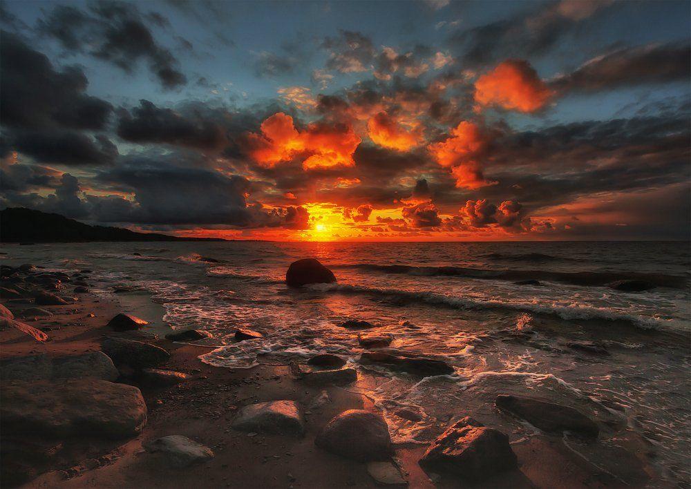 август, пейзаж, закат, ключенков, Aleksandr Kljuchenkow