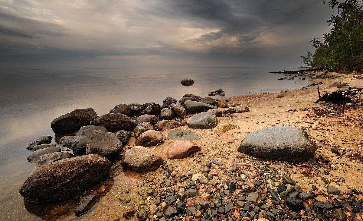 онега, озеро, утро, осень, Roman Goryachiy