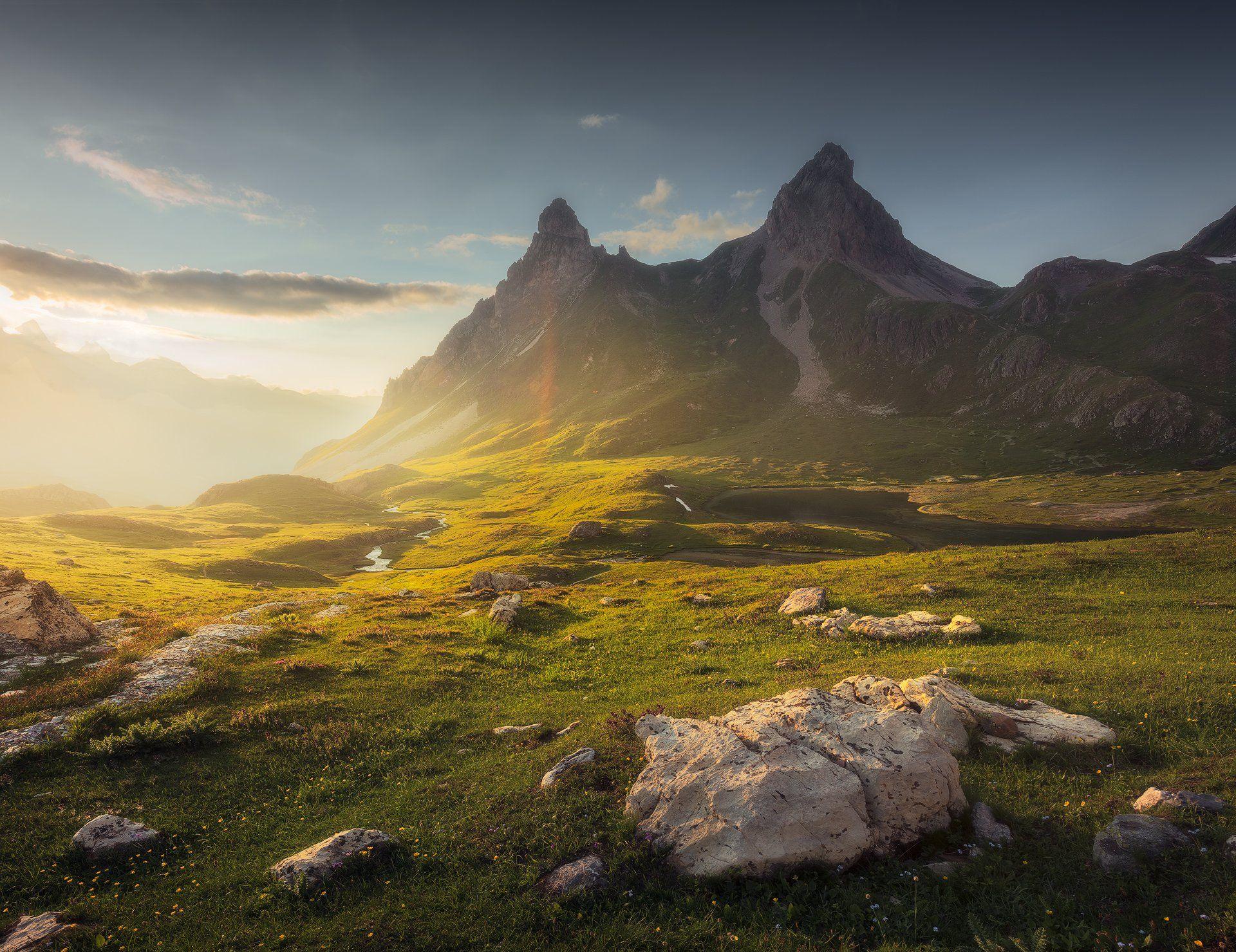 #france, #mountains, #sunrise, #alps, #travel, #sky, #safarphoto, #valley, #tourism, #landscape, #национальный, #парк, #пейзаж, #пейзажная, #фотография, #красивое, #небо, #горы, #путешествие, #туризм, #отдых, #закат, #франция, #альпы, Бахышев Сафар