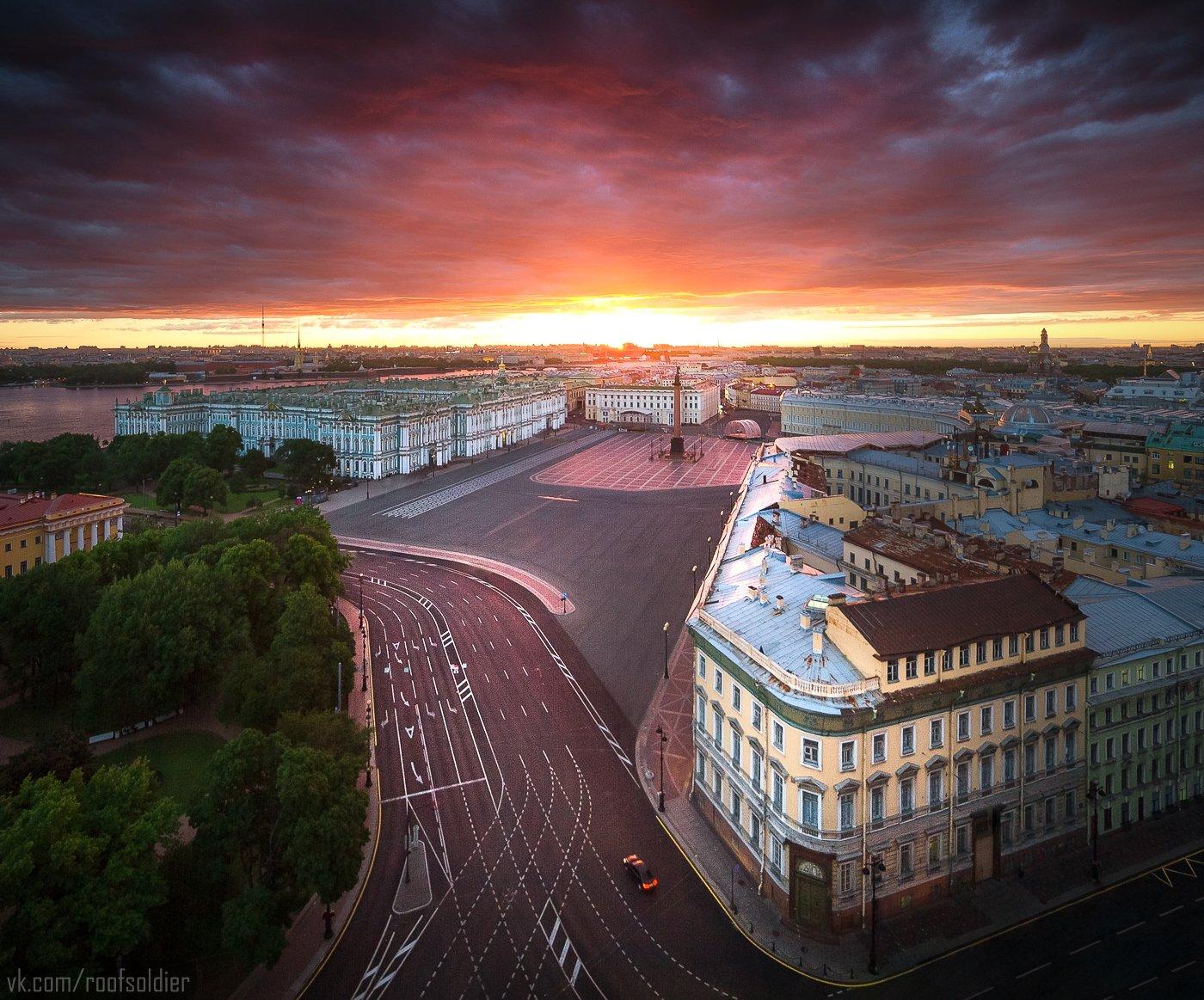 Санкт-Петербург, рассвет, закат, крыша, город, пейзаж, архитектура, Питер, Голубев Алексей