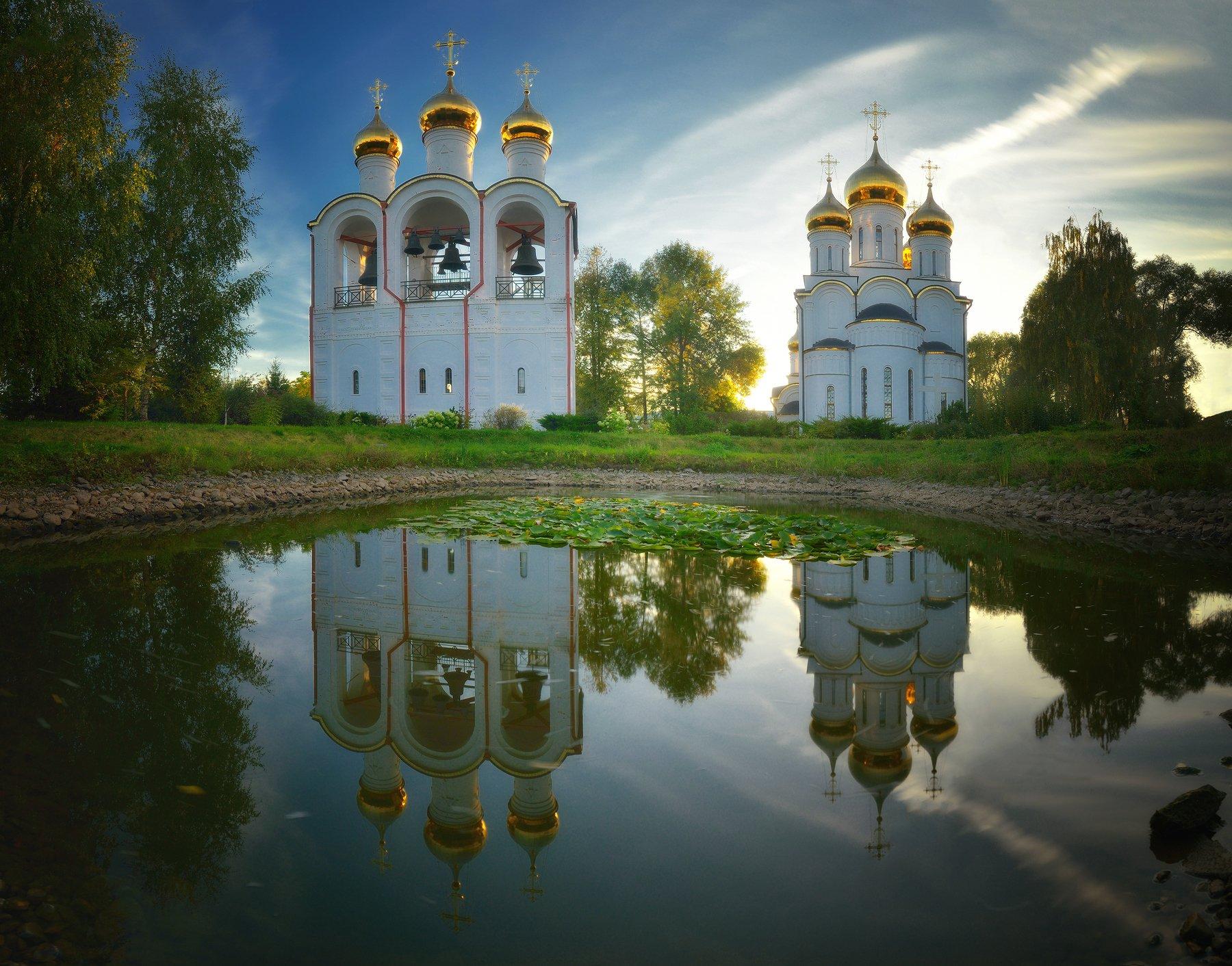 вода, подмосковье, вечер, осень, переславль залесский, Алексей Ник