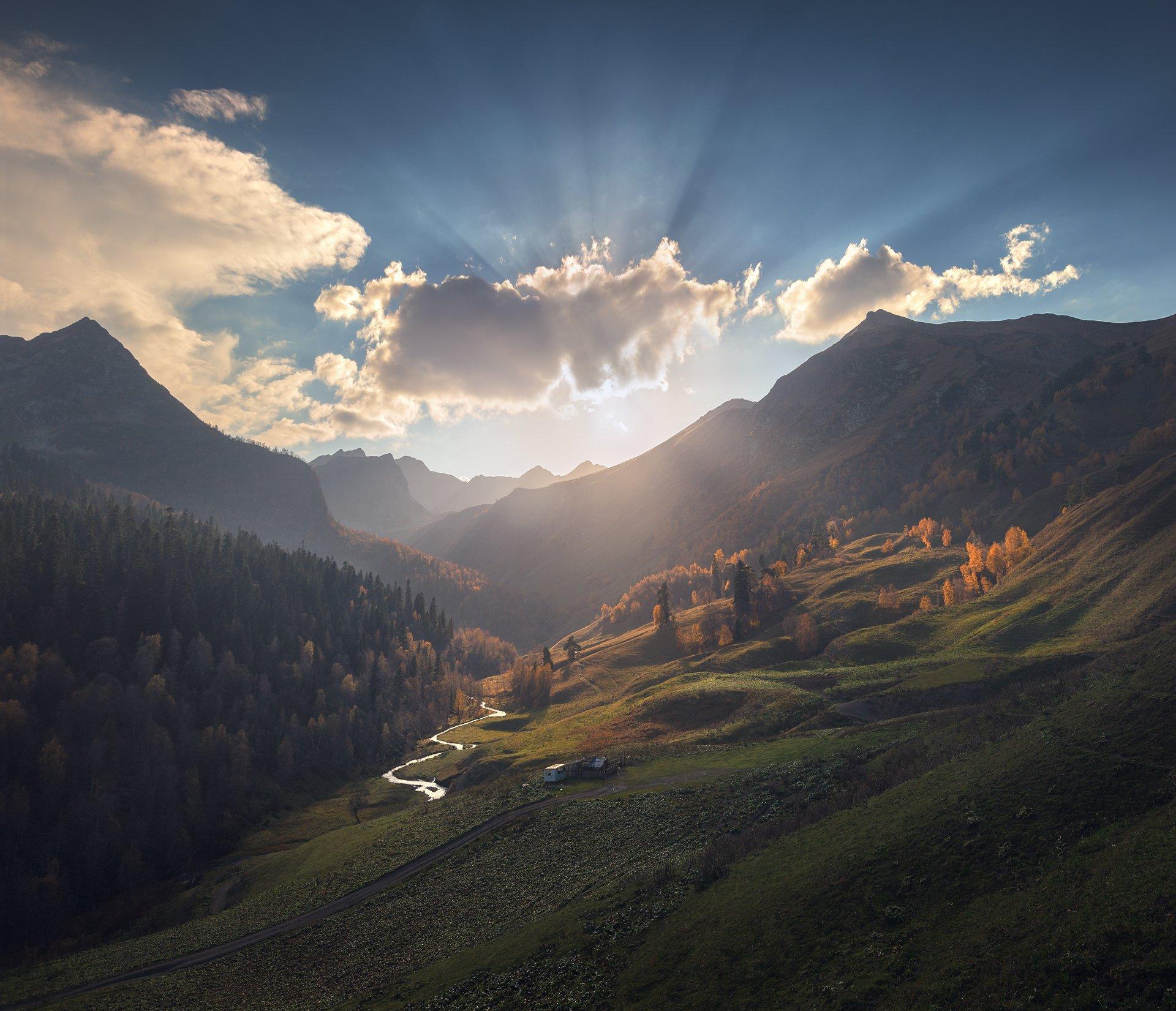 кавказ, осень, архыз, дуккинские озера, Александр Трашин