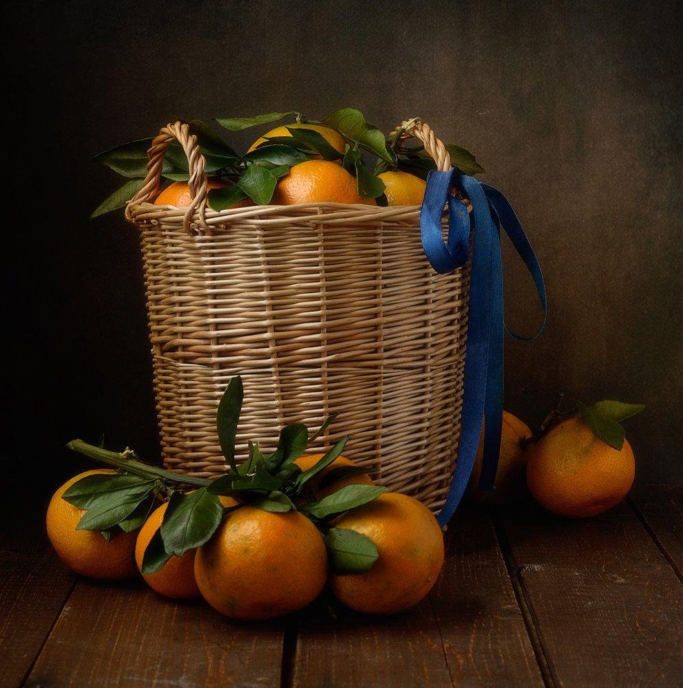 натюрморт,мандарины,корзина,аромат, Наталия К