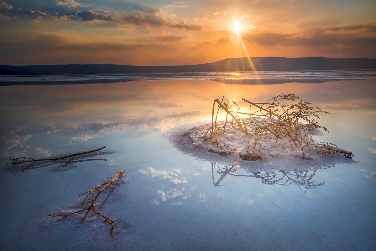 крым,пейзаж,рассвет,россия,закат,природа,фототур,озеро,заповедник,опук,кояшское, Elena Pakhalyuk