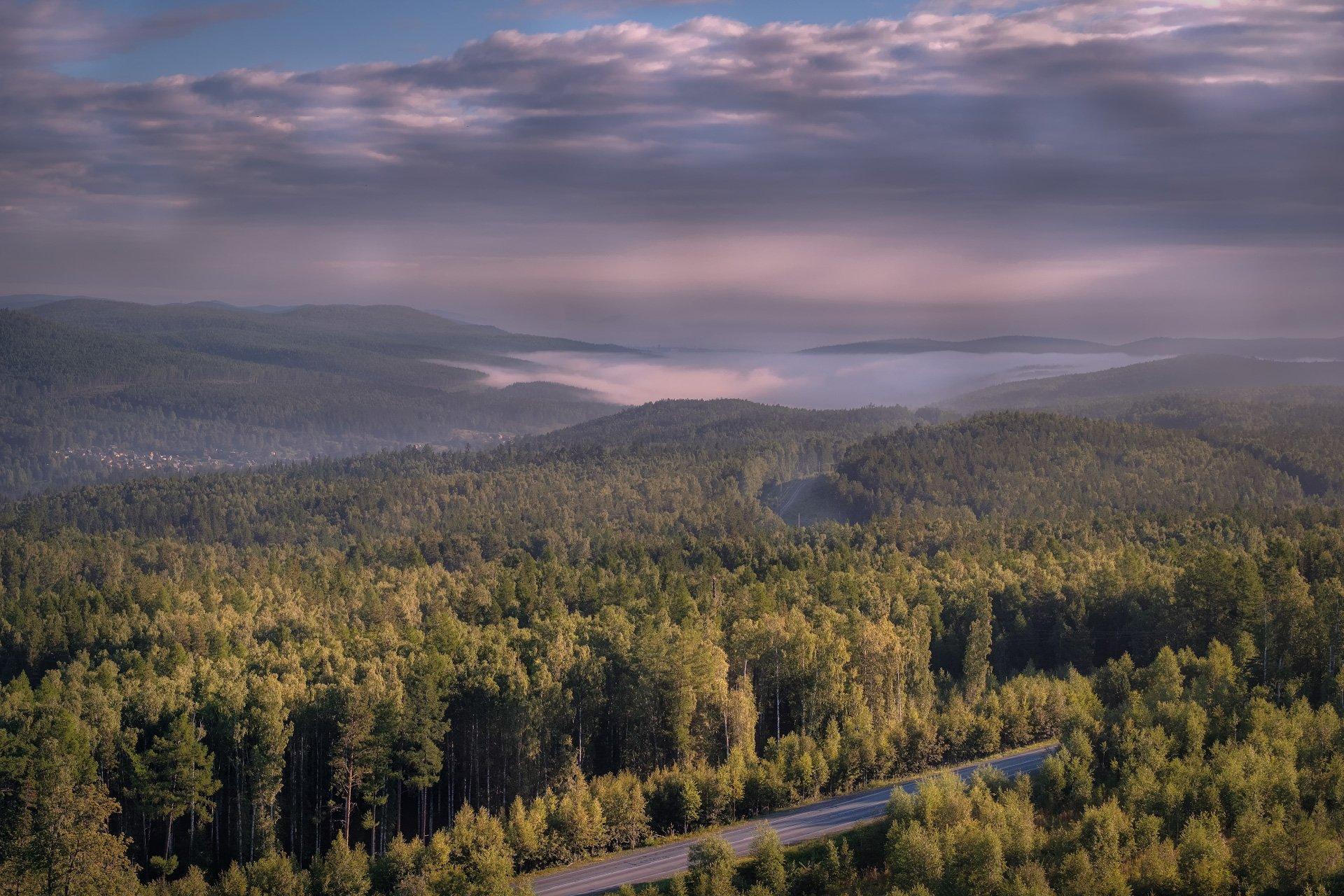 урал, бакал, седой, горы, туман, лес, тайга, дорога, путешествие, Андрей Чиж
