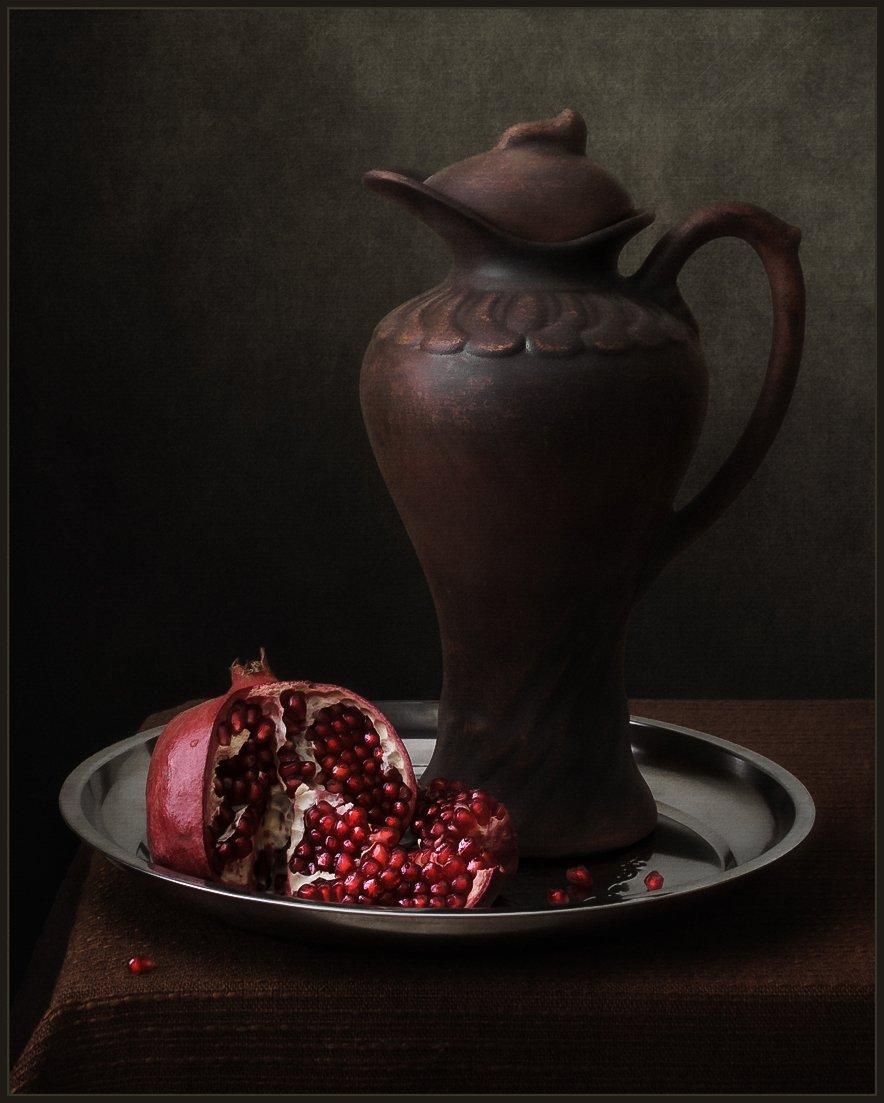 гранат, кувшин, натюрморт, Андрей Угренинов
