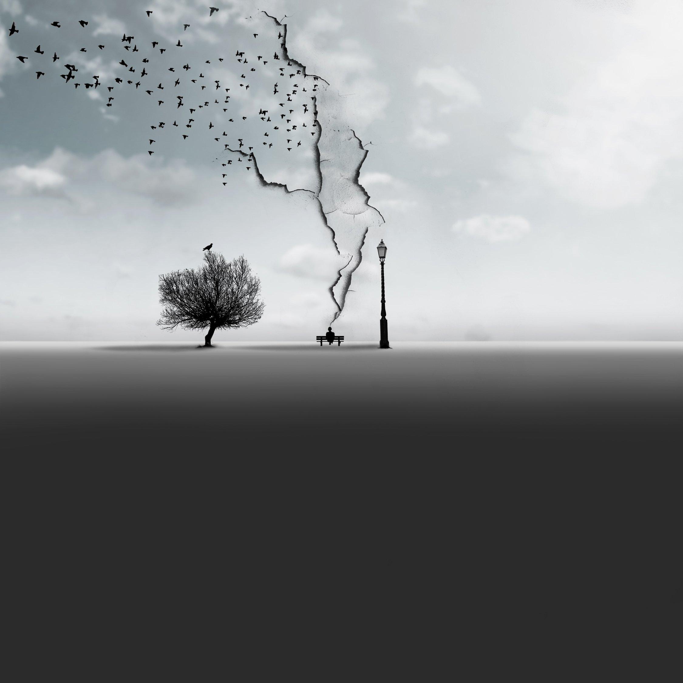 #35photo #surrealart#photoshop#ps_fantasy#art_minimal #bnw_dream #photography#minimalism#conceptual#fineart #instagram#ps_dreams#bnwminimalismmag#art_digital #ir_photographer#ir_aks#minimal#canon#blackandwhite#bnw#surreal#hadimalijani#art#fantastic_earth#, Hadi Malijani