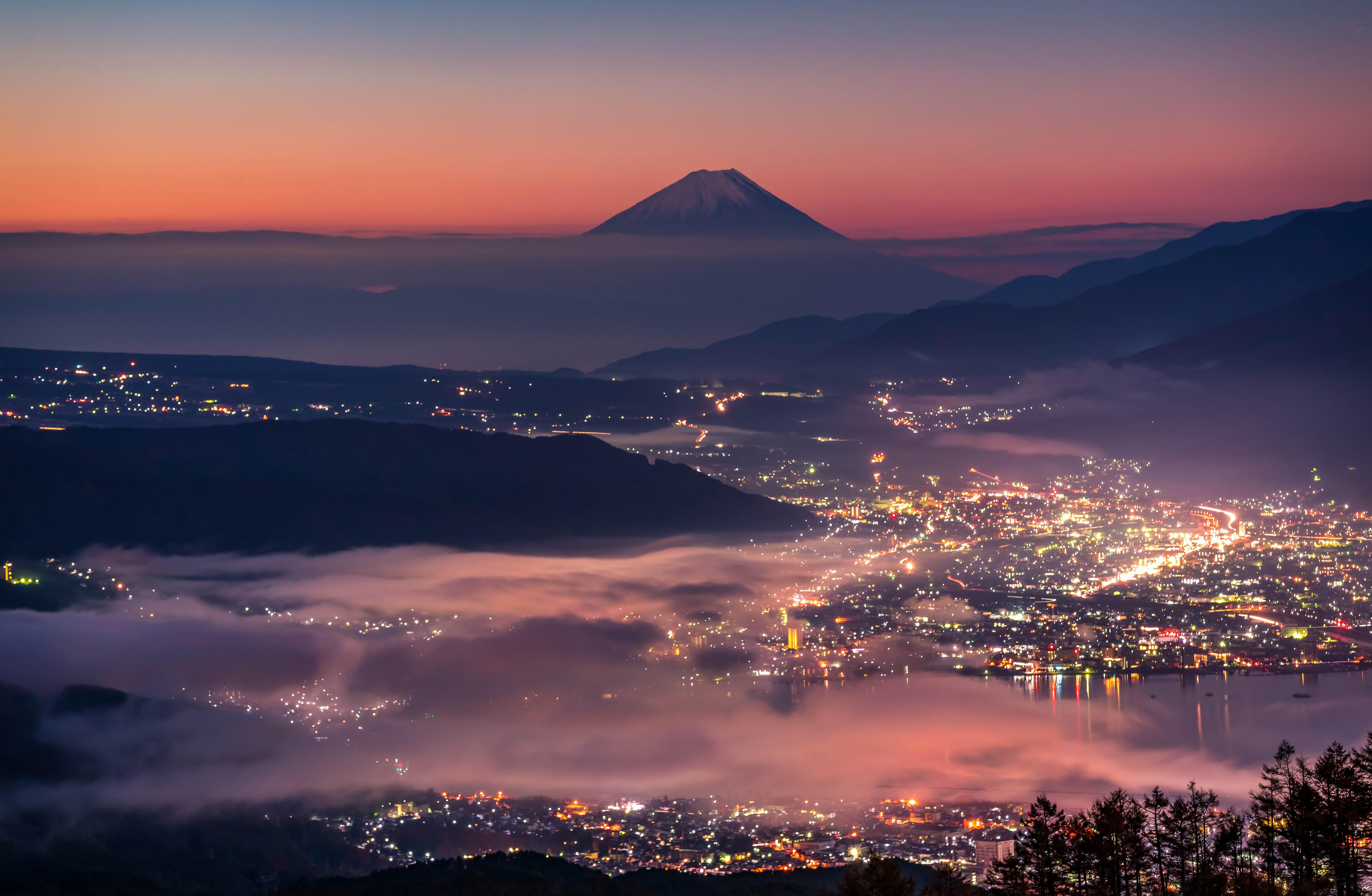 long exposure mountain nature landscape  cityscape lake japan lights, Hasan Jakaria