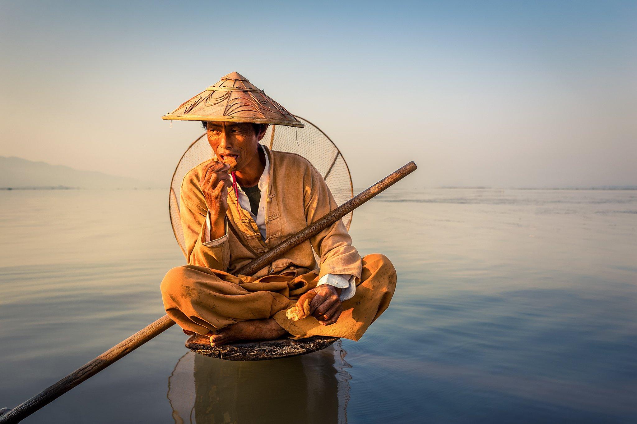 inle, myanmar, birma, travel, lake, sunrise, water, Olejniczak Paweł