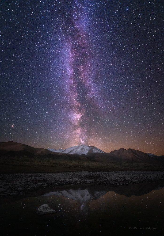 монголия, ночь, звёзды, млечный путь, Александр Кукринов