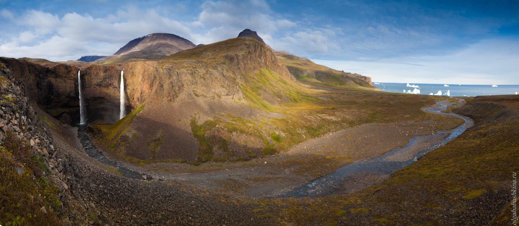 Гренландия, Исландия, водопад, айсберги, горы, Ольга Бабушкина