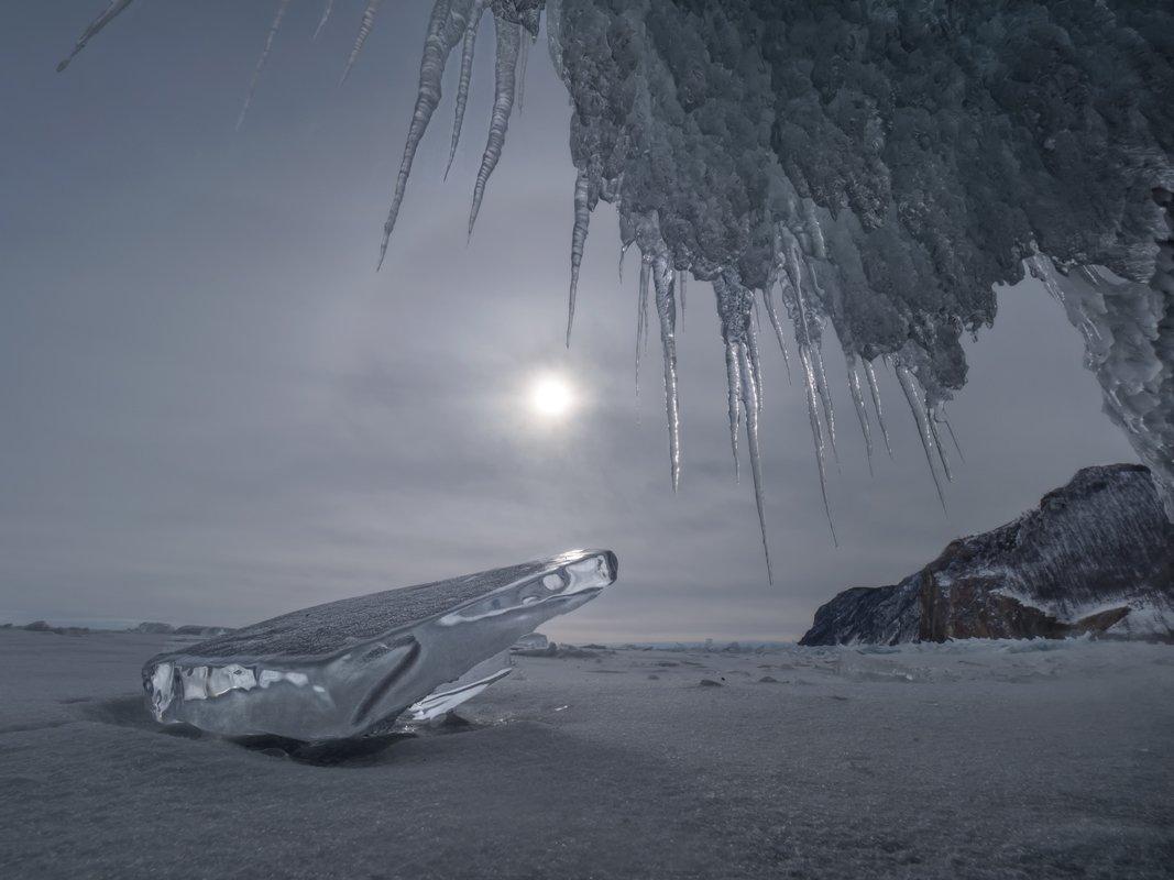 байкал,пейзаж, россия, иркутск, сибирь,зима, лед, снег,гало,грот, ледяной, природа, Elena Pakhalyuk