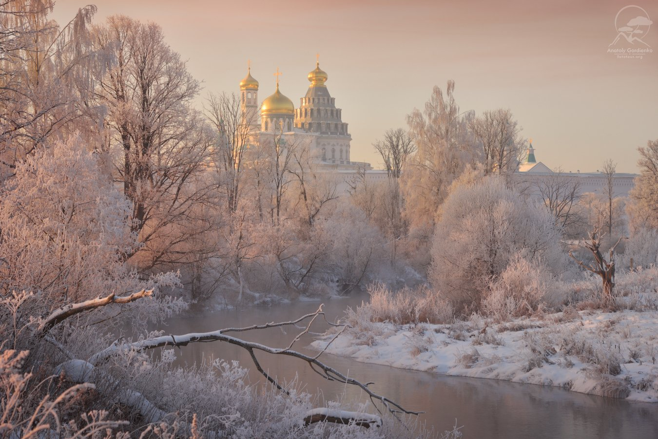 пейзаж, природа, истра, река, утро, монастырь, зима, мороз, Анатолий Гордиенко www.fototour.org