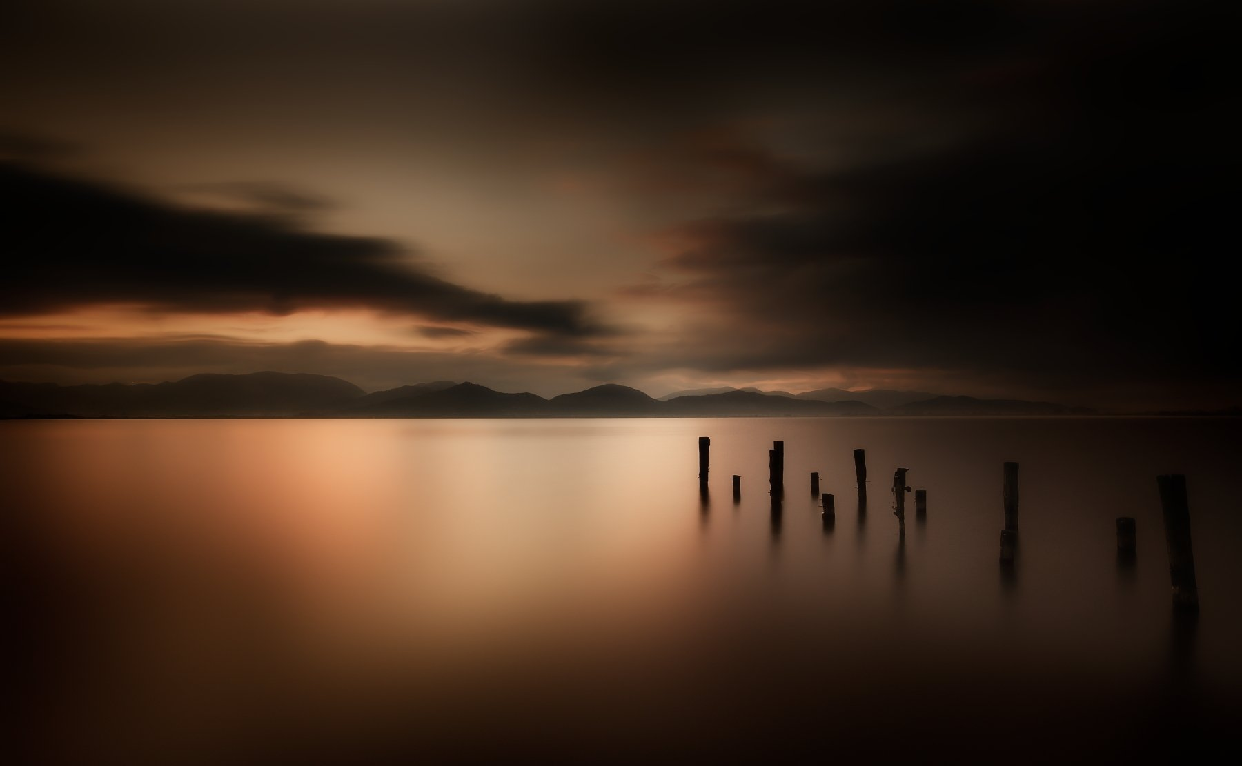 landscape sunrise long exposition, Silvano Sil Passalacqua