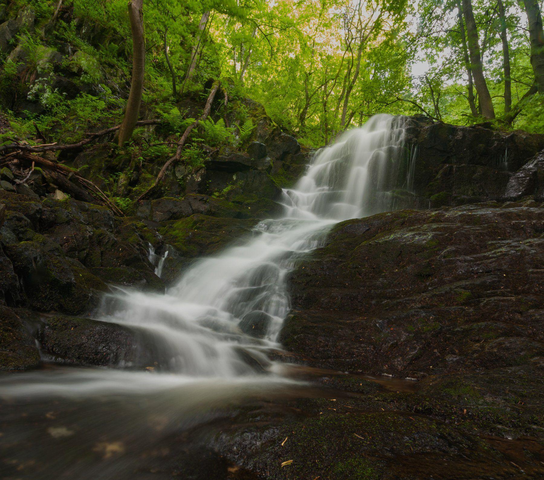 водопад, вода,  water, waterfall, landscape, nature, forest, nikon , Иван Димитров