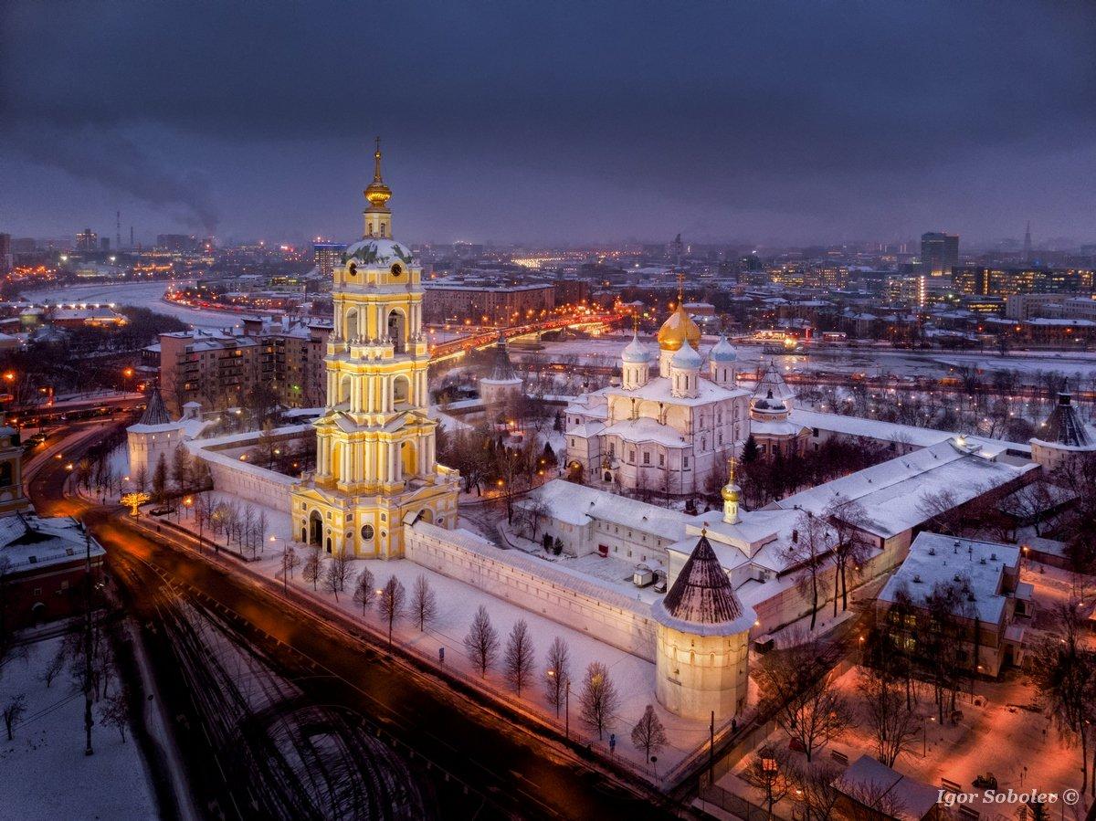 новоспасский  монастырь, москва, зима, novospassky monastery, moscow, winter, Игорь Соболев
