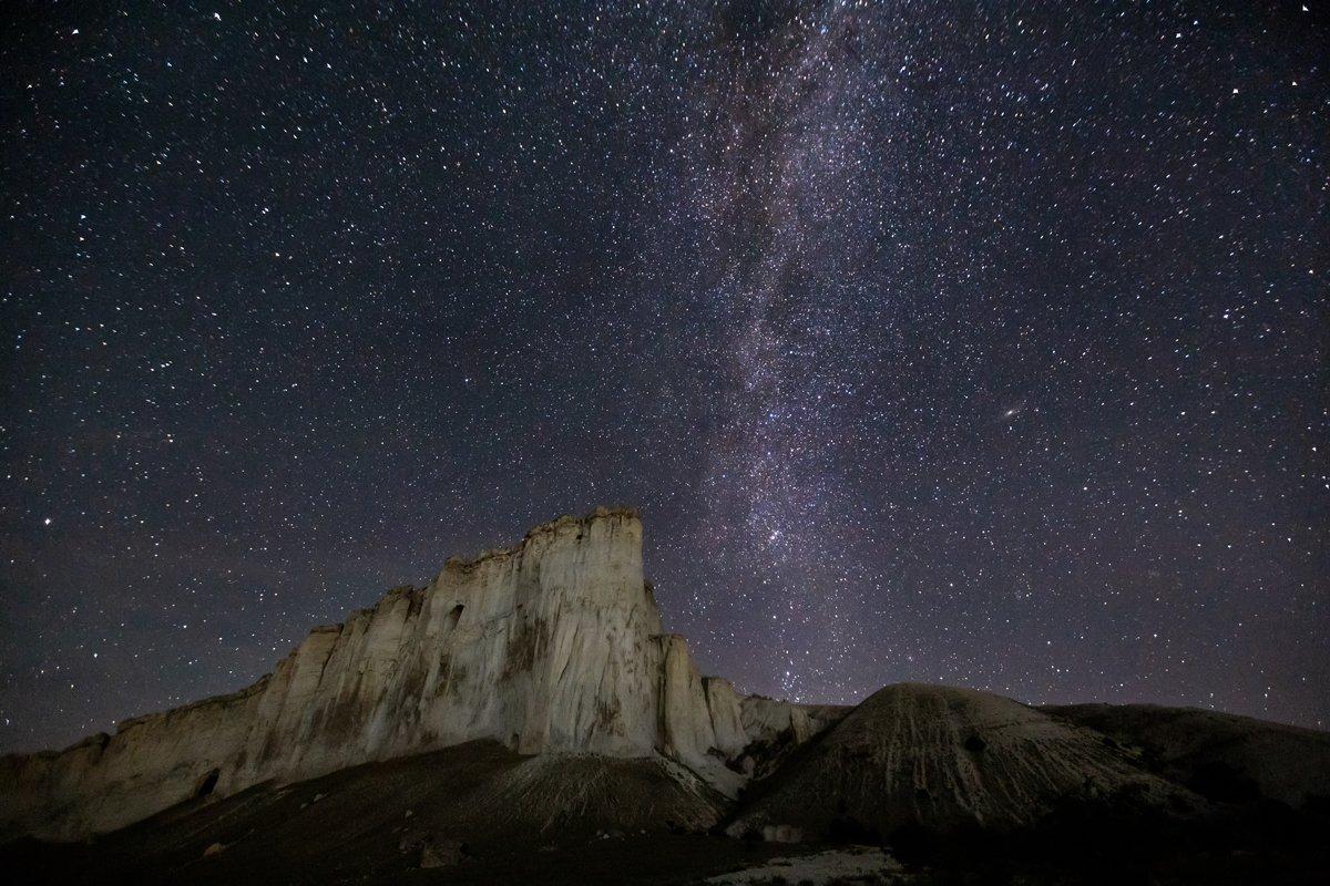 крым, ночь,млечный путь, звезды, белая скала, россия, пейзаж, фототур, природа, Elena Pakhalyuk