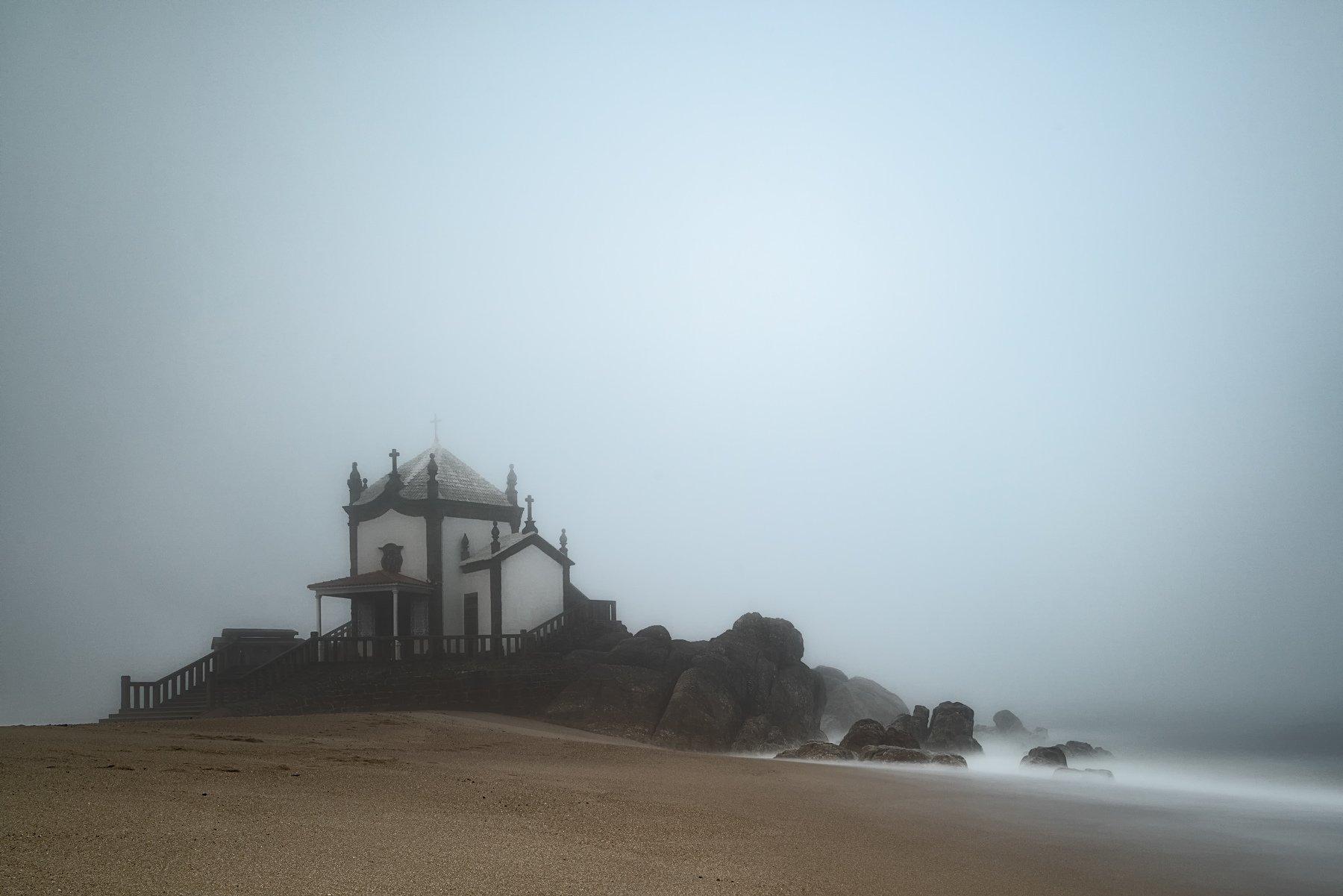 portugal,kapele,mist,morning,minimalismus,long exposure,travel,photo hunter, Felix Ostapenko