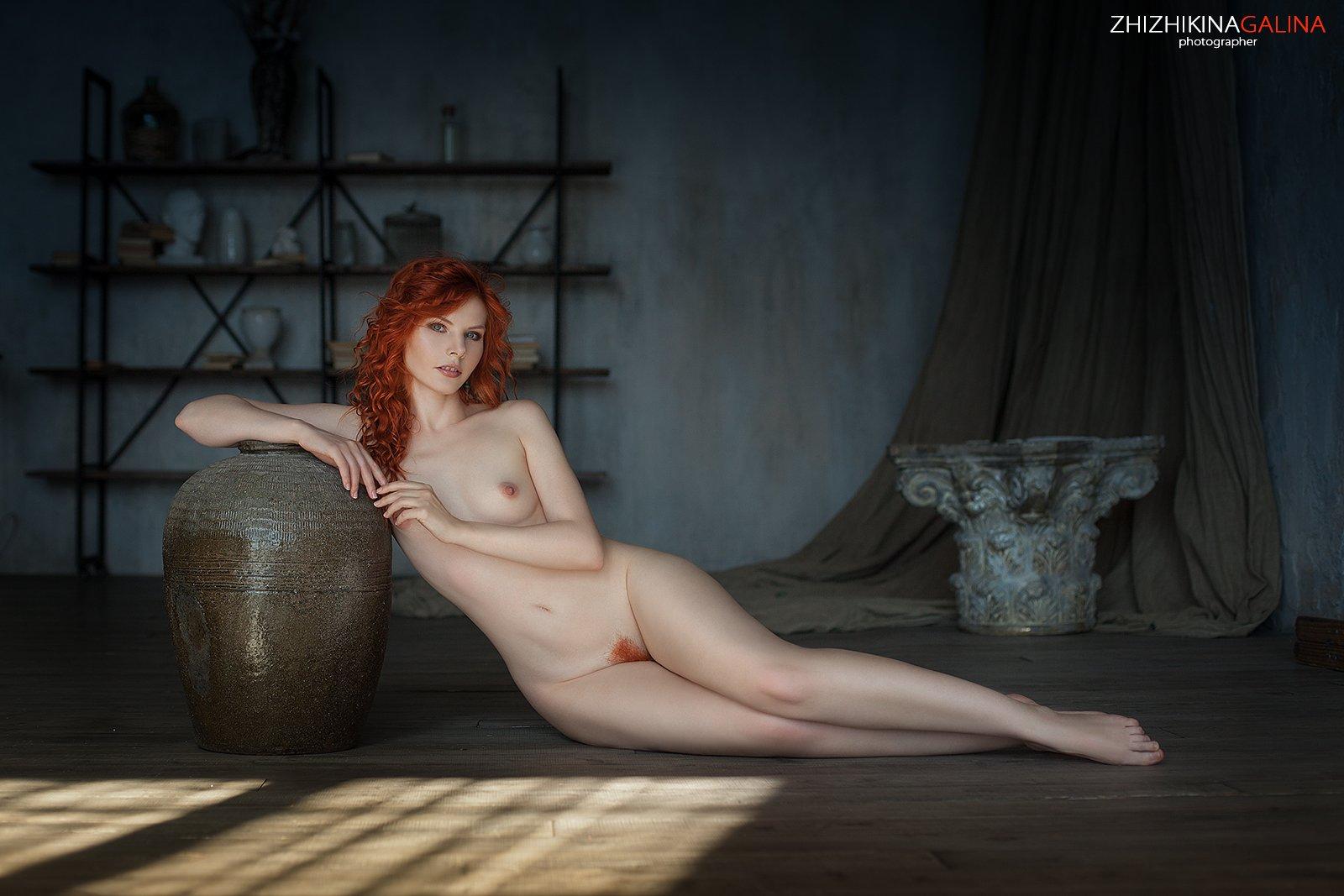 девушка, портрет, лицо, рыжая, руки, фотограф, портрет, артню, nude, portrait, Галина Жижикина