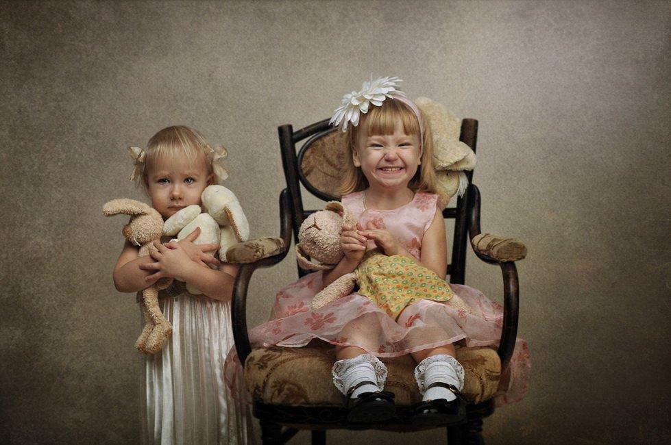 портрет, девочки, дети, игрушки, annaprimki.ru, Анна Применко