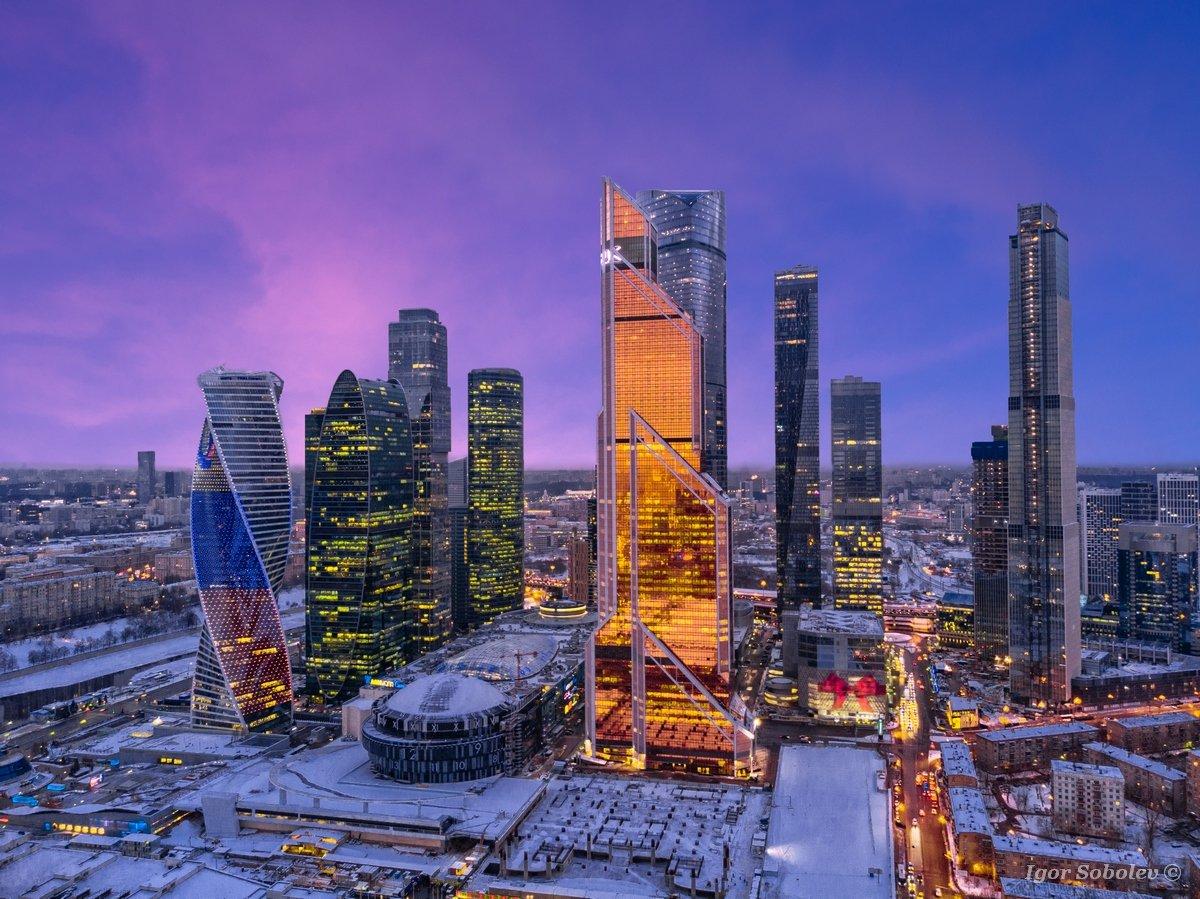 москва-сити, москва, зима, moscow city, moscow, winter, Игорь Соболев