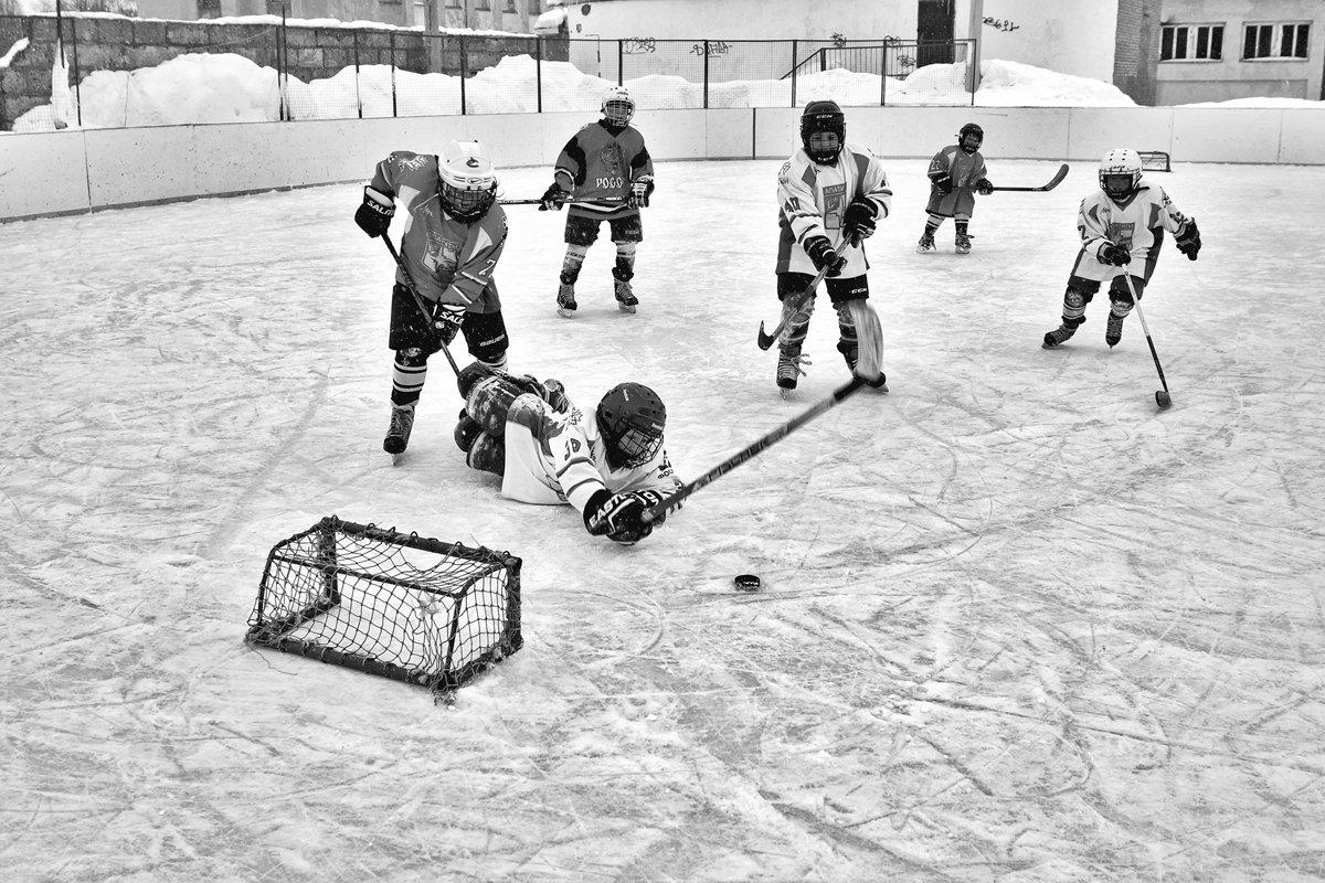 хоккей, дети, лед, игра, чб, апатиты, Николай Смоляк