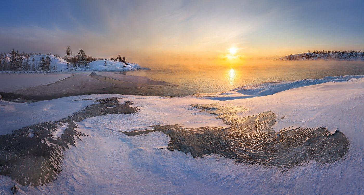 зимняя ладога, ладожское озеро, карелия, шхеры, лед, Арсений Кашкаров