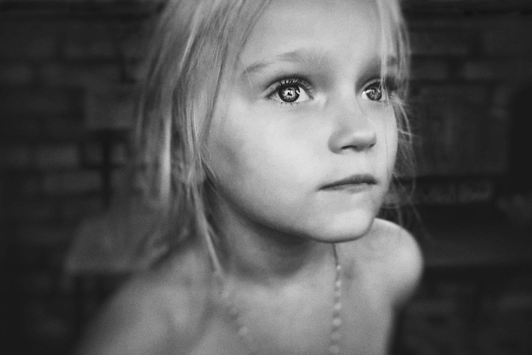 Чб, портрет, детство, ребёнок, bnw, be, childhood, child, Сергей Гойшик