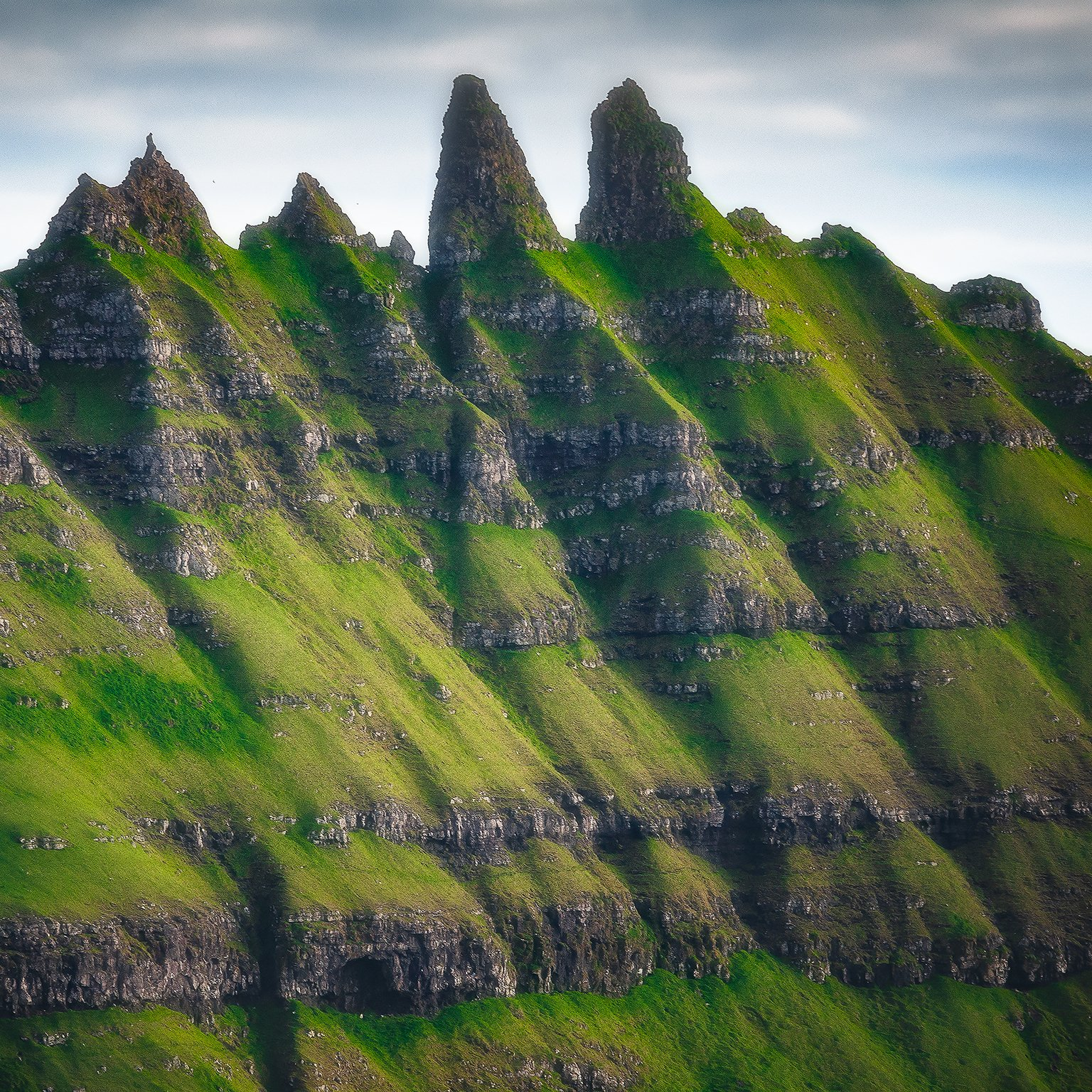 faroe, tindholmur, nikon, landscape, texture, basalt, layers, Csomai David