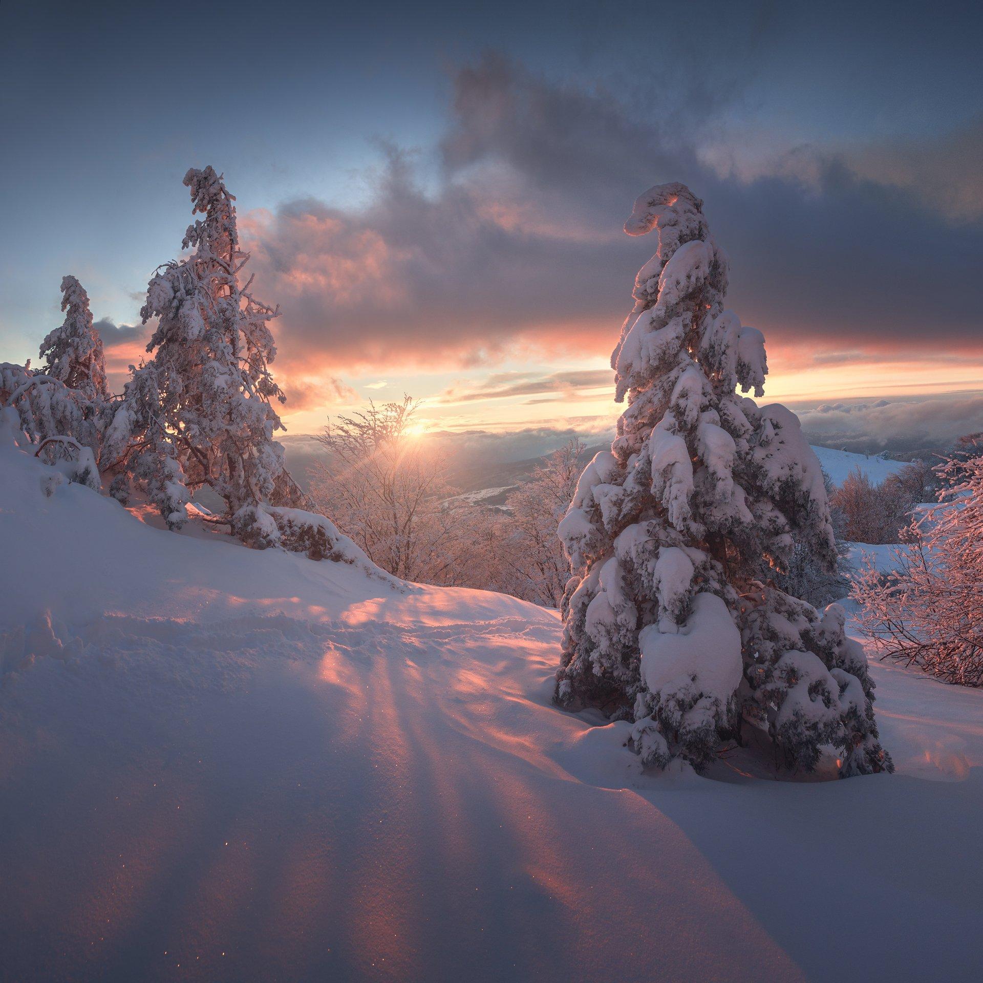 крым, демерджи, южная демерджи, северная демерджи, долина привидений, зима, Александр Трашин