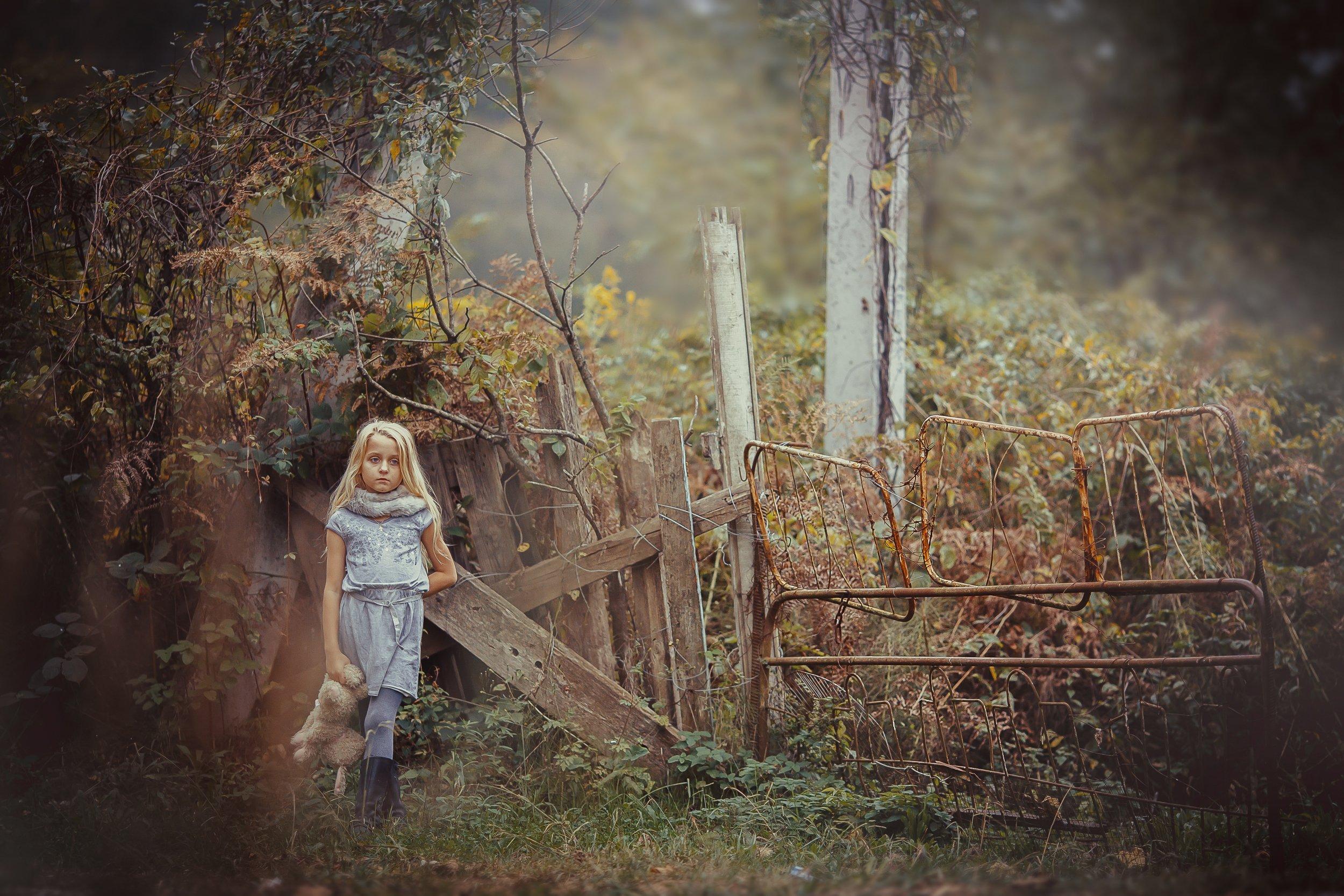 настроение природа девочка забор, Anna Vinogradova