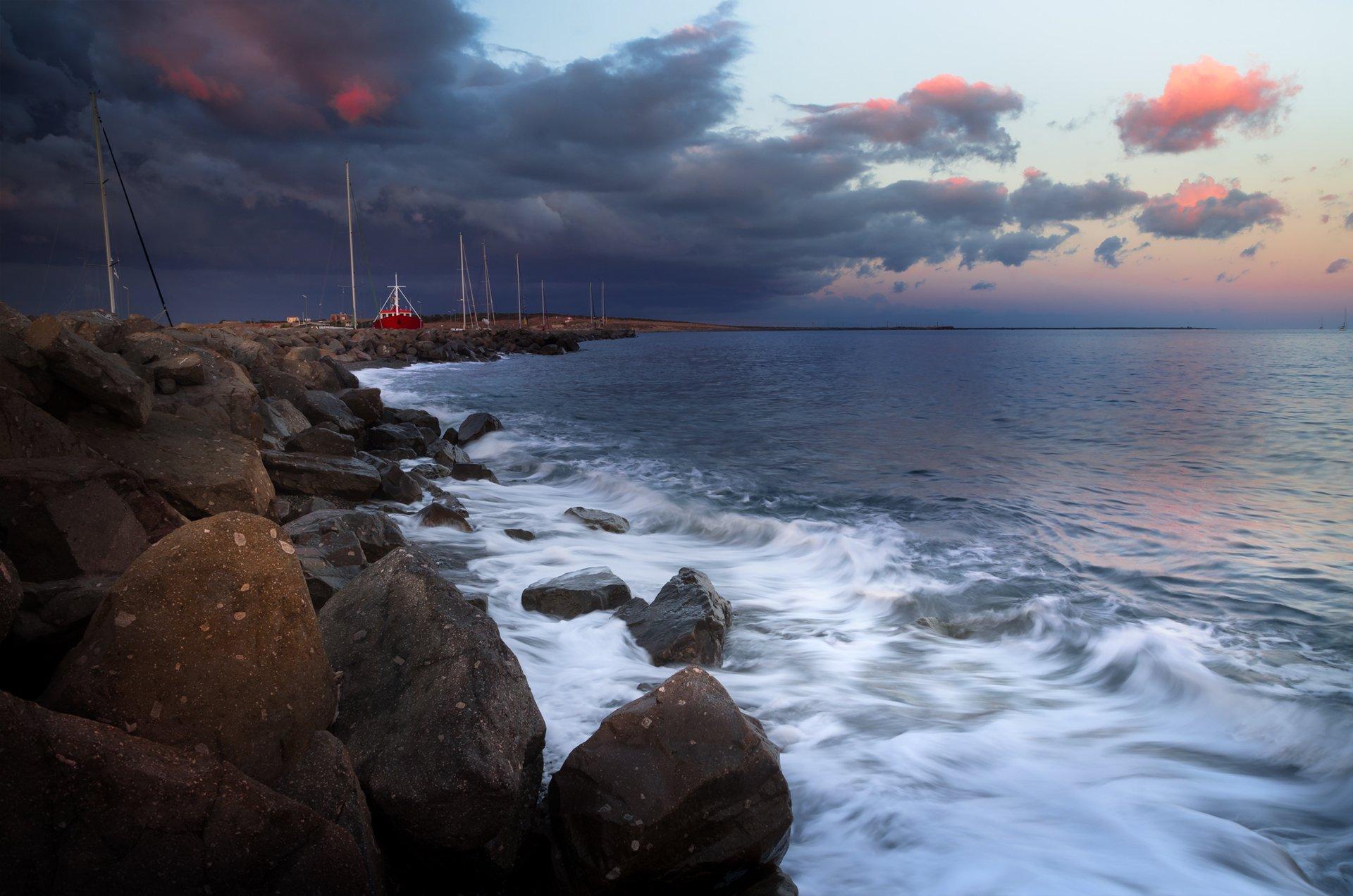 landscape, nature, seascape, sunrise, rocks, castal, coast, beach, sea, seaside, scenery, samothraki, greece, Александър Александров